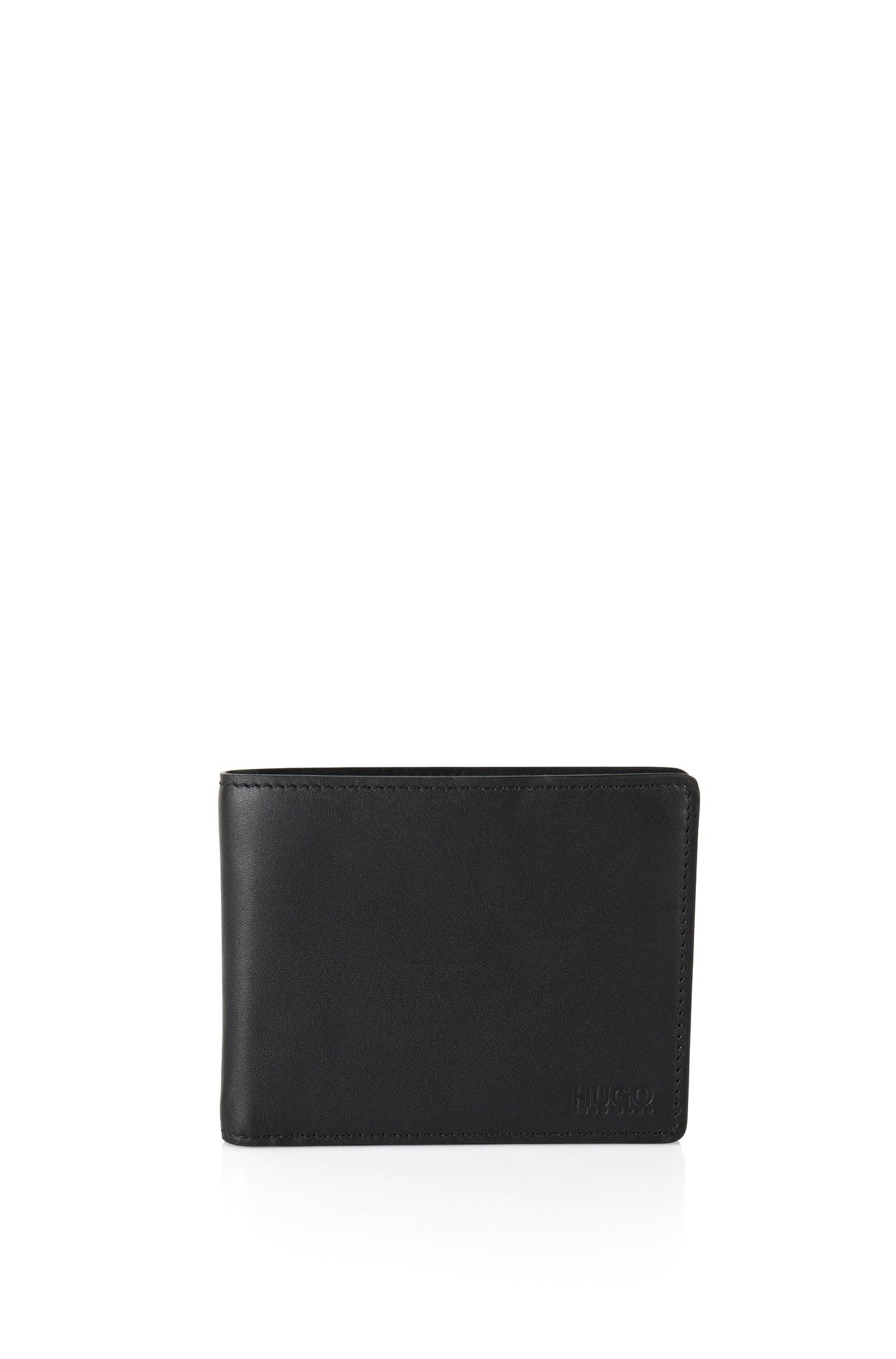 Tri-fold wallet in smooth leather