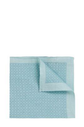 Pochette en lin à motif: «Pocket sq. cm33x33», Chaux