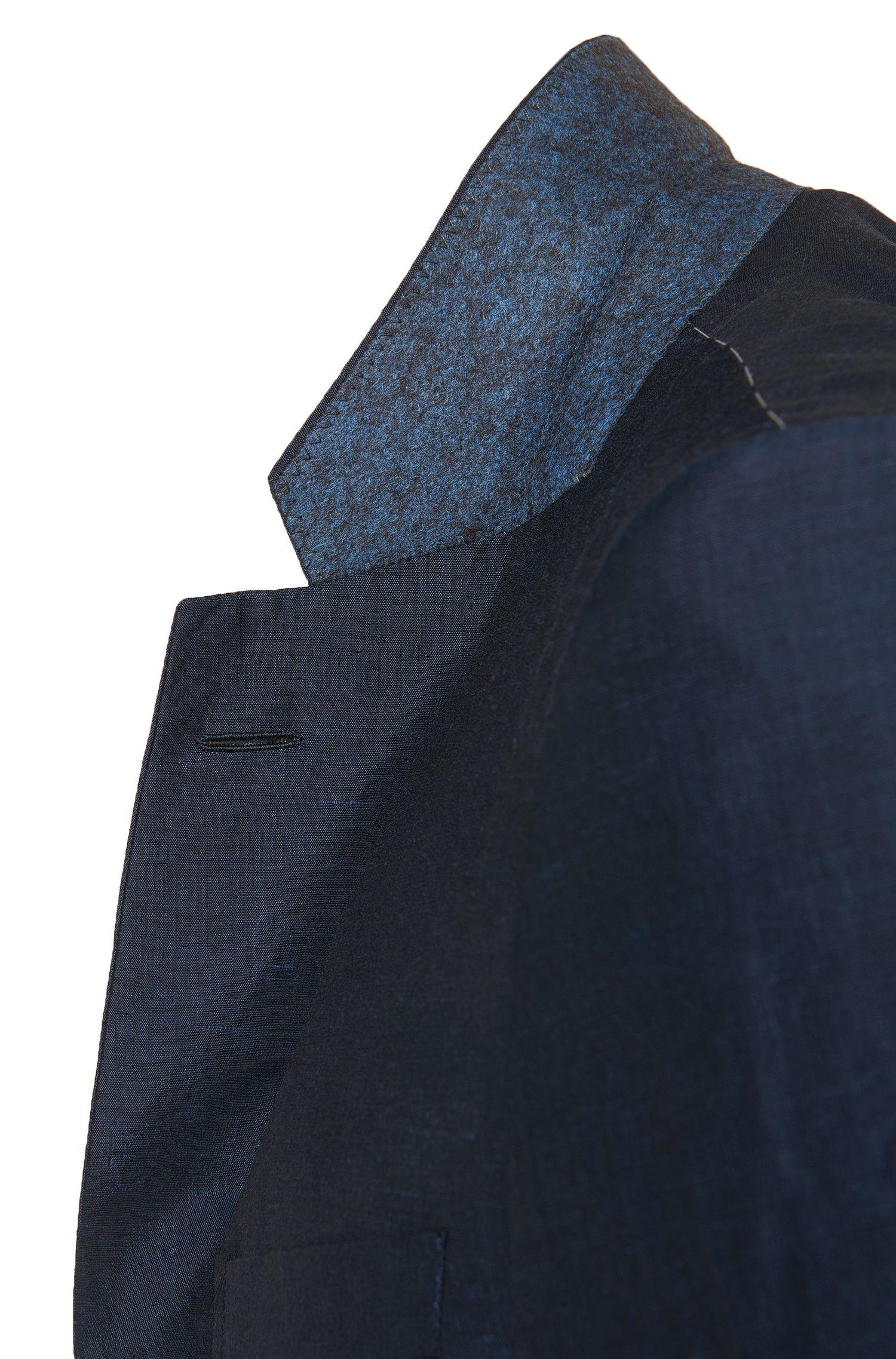 Costume Slim Fit en lin mélangé, avec de la soie: «T-Harvers1/Glover1»
