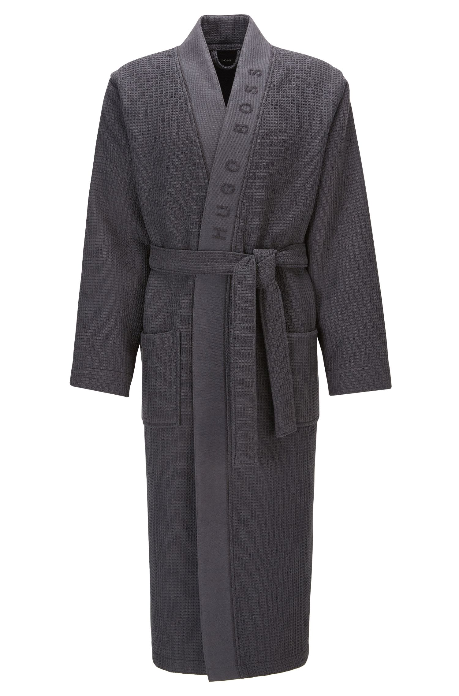Dressing gown in structured fabric
