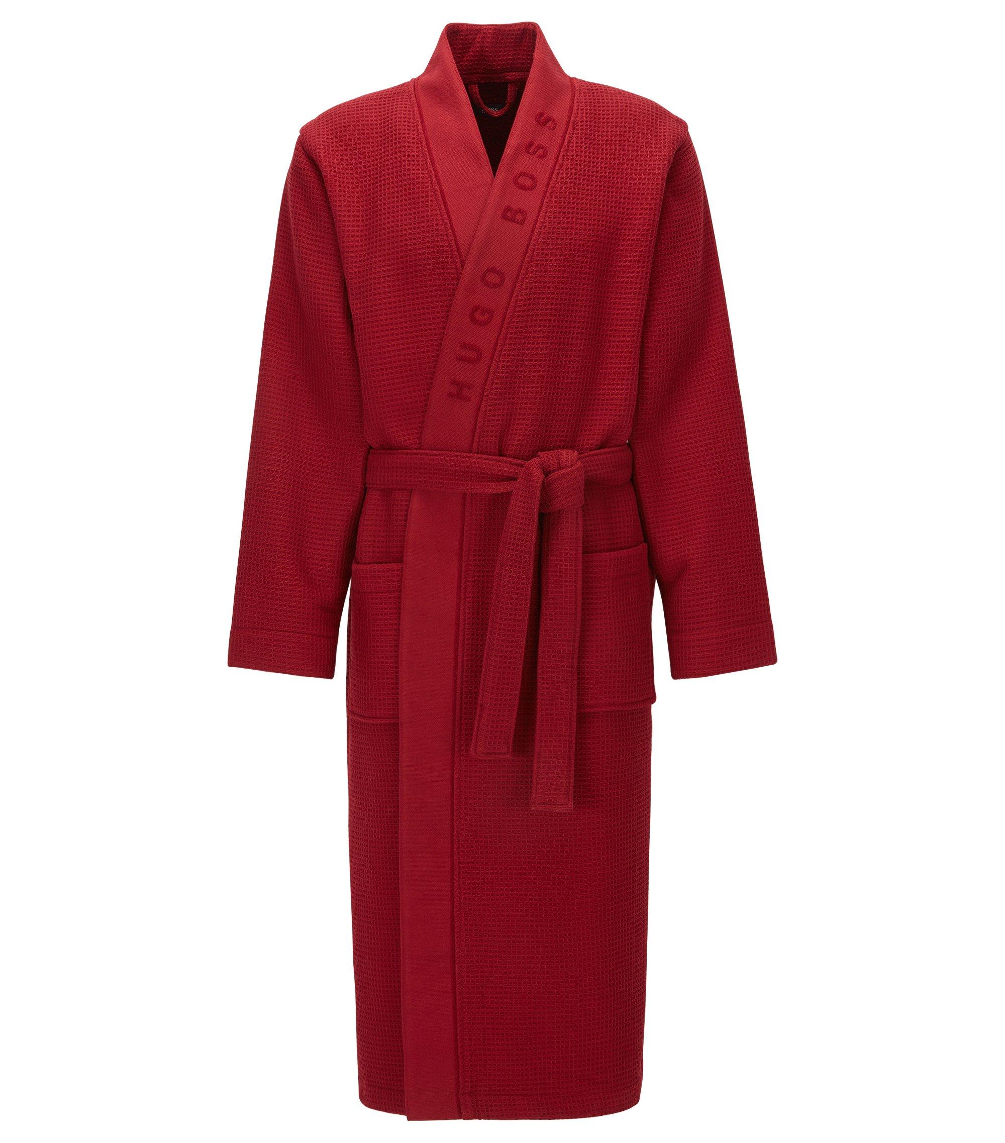 Batín en tejido con textura, Rojo oscuro