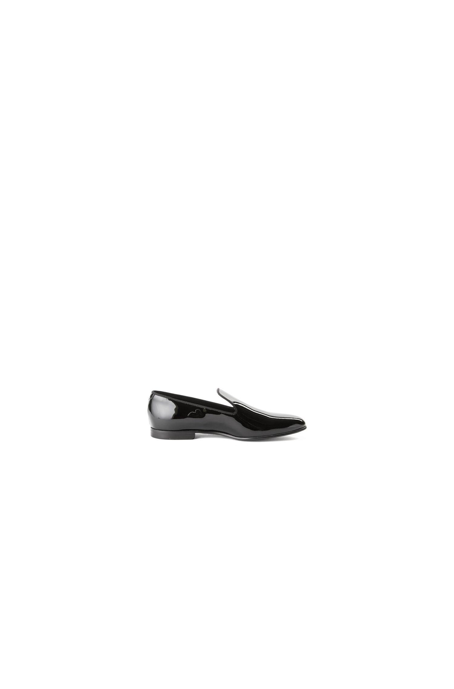 Zapatos sin cordones modernos en charol italiano
