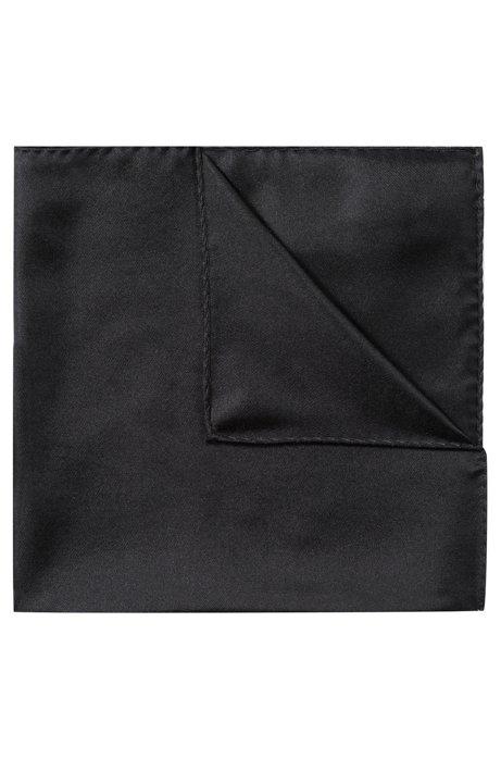 Pochette en sergé de soie raffinée, Noir