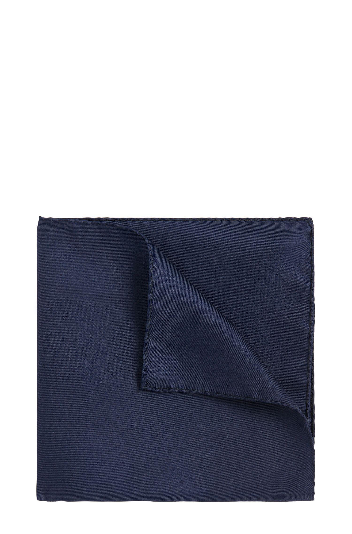 Pochette da taschino in tinta unita in pura seta: 'Pocketsquare 33x33cm'