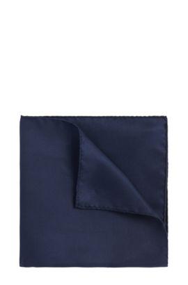 Unifarbenes Einstecktuch aus reiner Seide: 'Pocketsquare 33x33cm', Dunkelblau