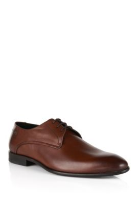 Leather Derby shoes with ombre uppers, Brown