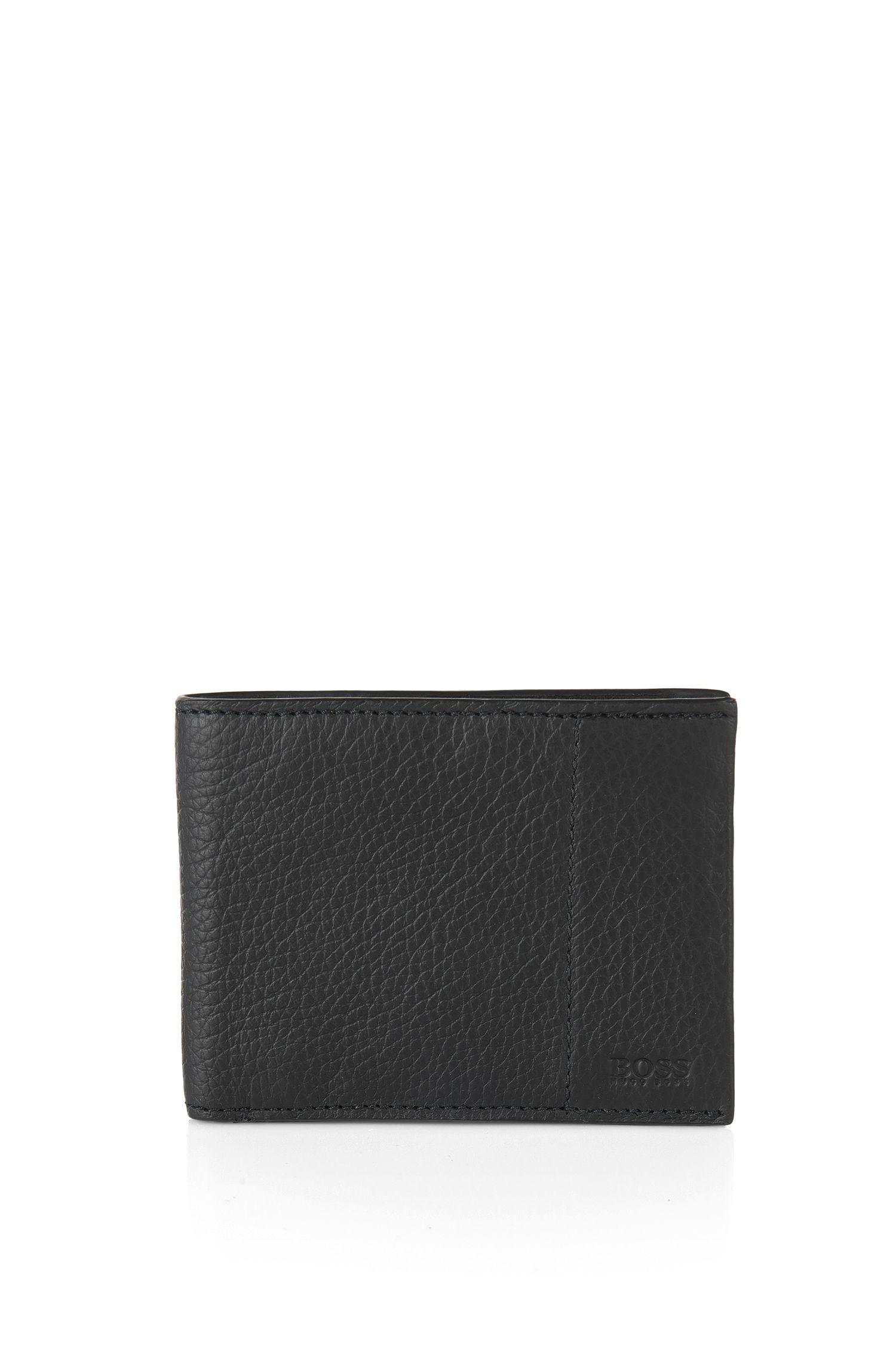 Bi-fold wallet in Italian leather