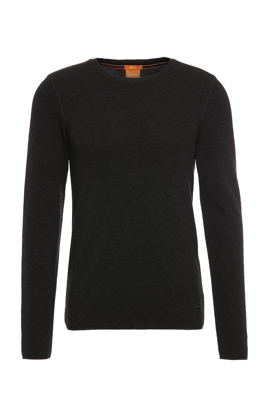 Slim-fit T-shirt van stof met wafelstructuur, Zwart