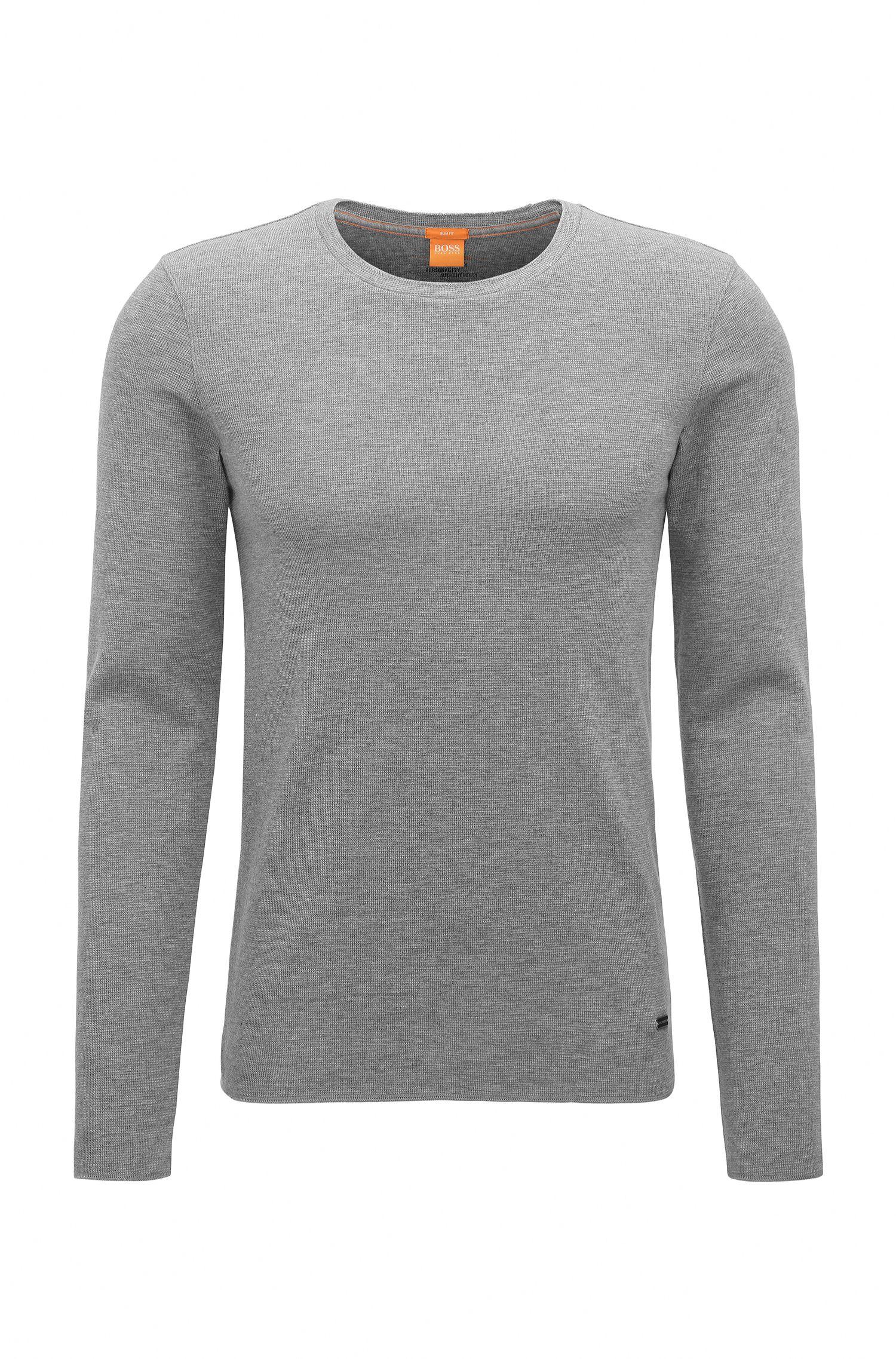 T-shirt Slim Fit en tissu gaufré