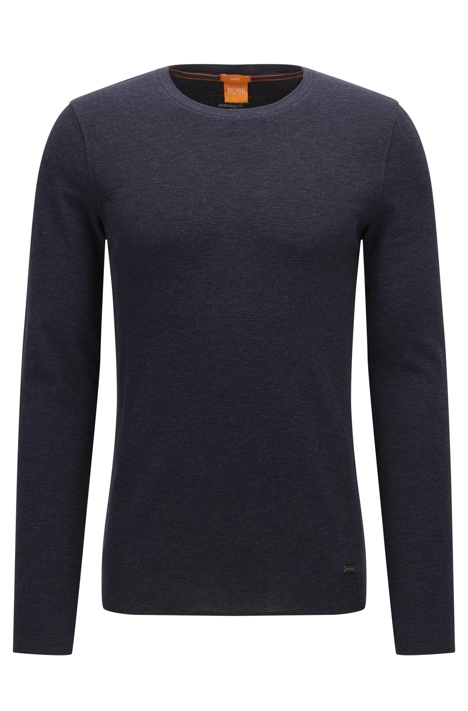 Slim-Fit T-Shirt aus Baumwolle mit Waffelstruktur