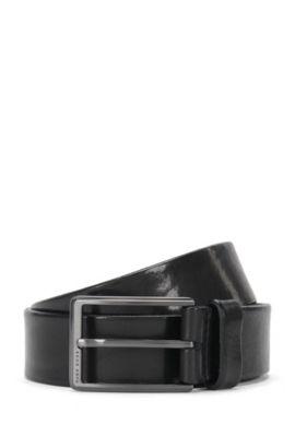 Gürtel aus Leder: 'Sammy_Sz35_Itpl', Schwarz