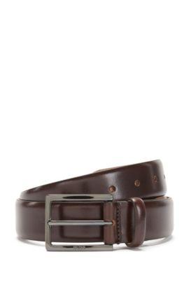 Cinturón Tailored fabricado a mano en piel: 'T-Luven_Sz35_ltpl', Marrón oscuro
