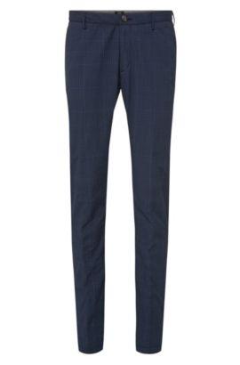 Chino Slim Fit en pur coton: «Rice4-W», Bleu foncé