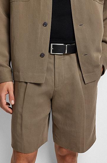 手工制作双面真皮腰带:'Olarion_Or35_pp',  002_黑色
