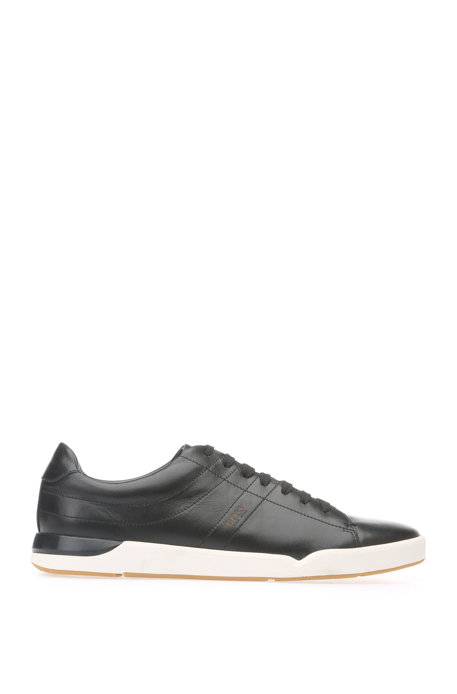 Sneakers in pelle liscia: 'Stillnes_Tenn_ltpl', Nero