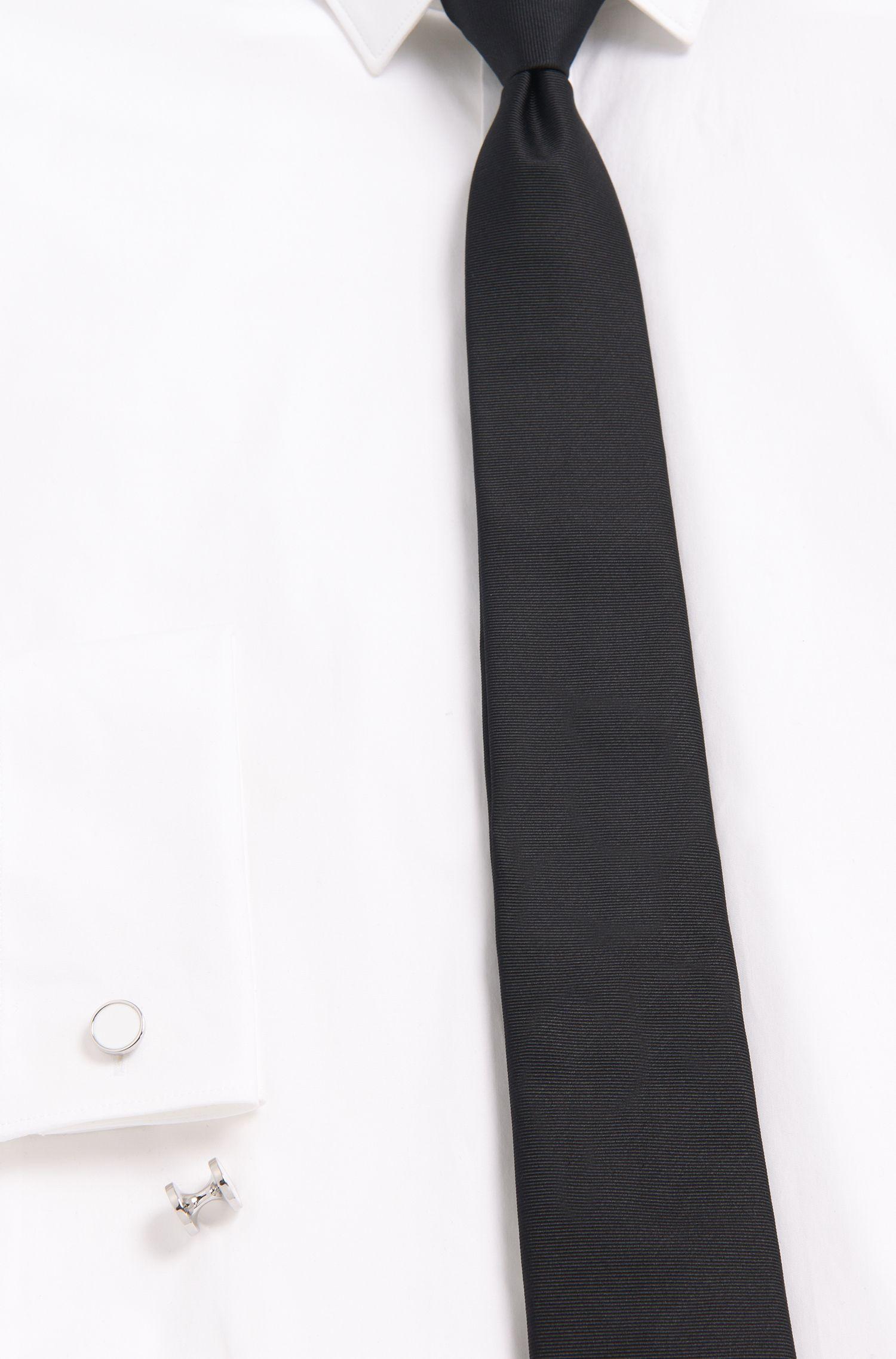 Runde Manschettenknöpfe aus Zink mit Emaille-Detail