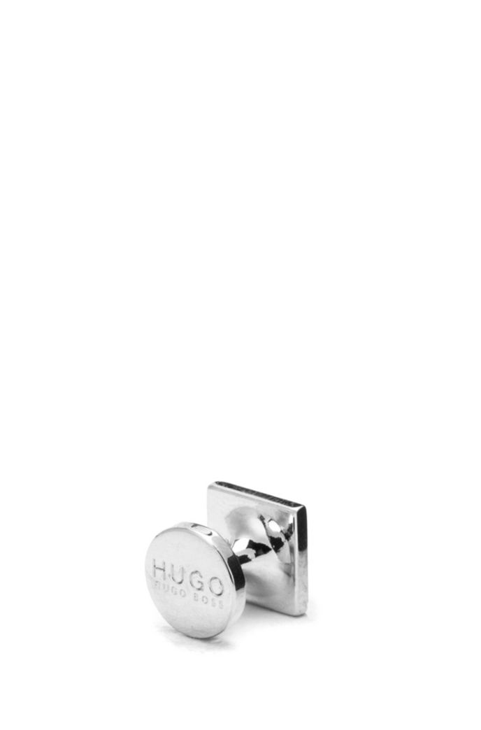 Square cufflinks with enamel detail