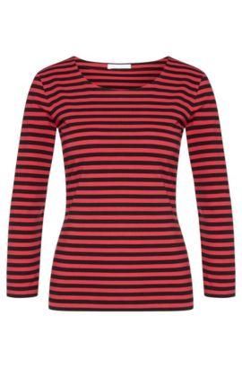 Camiseta regular fit en punto sencillo de algodón elástico, Fantasía
