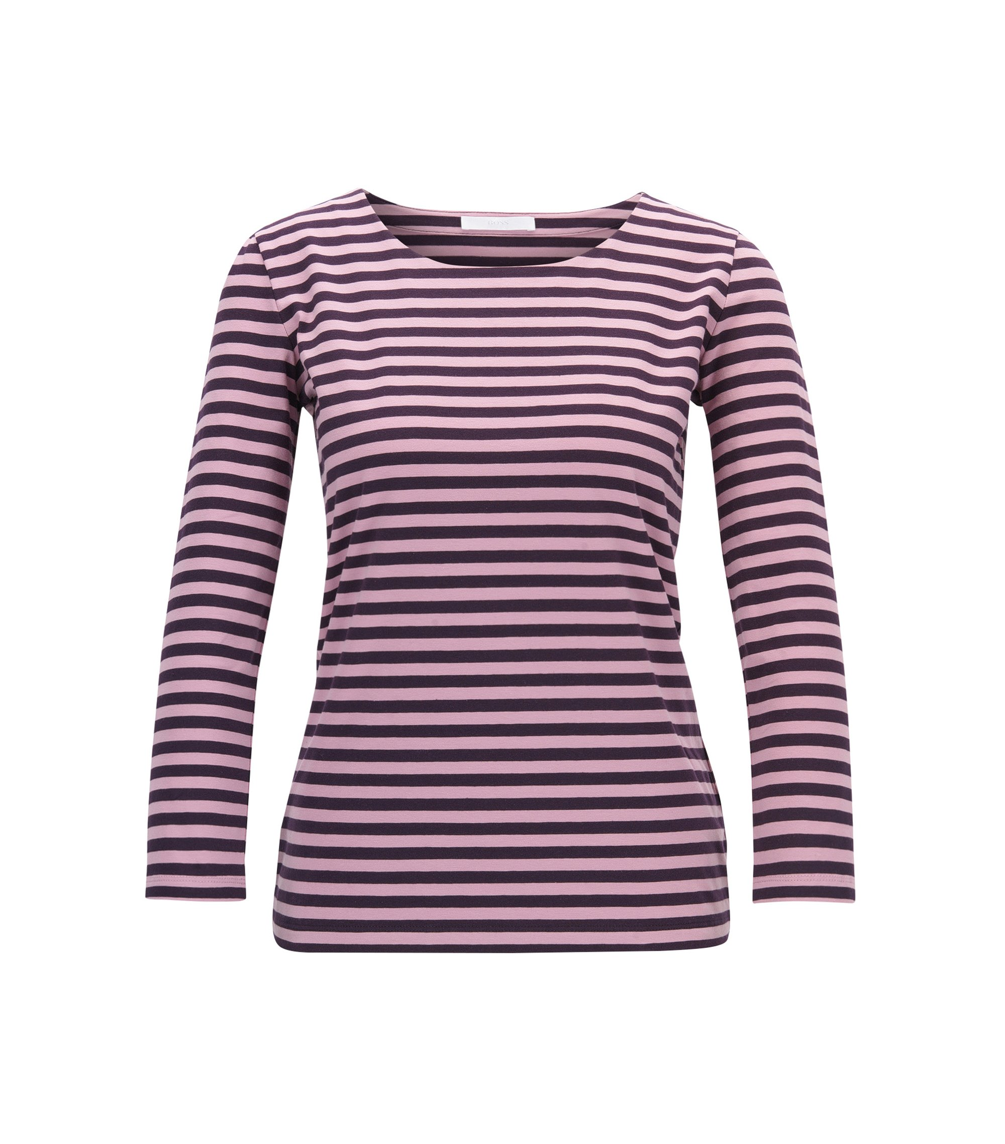 T-shirt Regular Fit en jersey single de coton stretch, Fantaisie