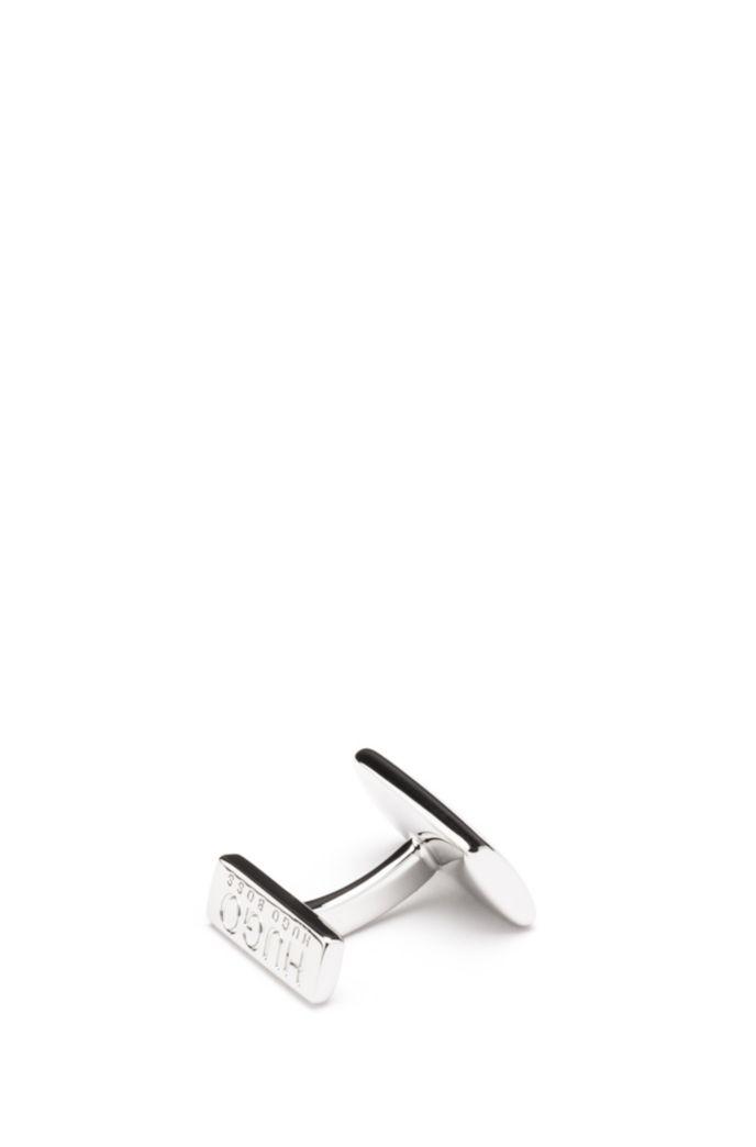 Rectangular cufflinks with fix fastening