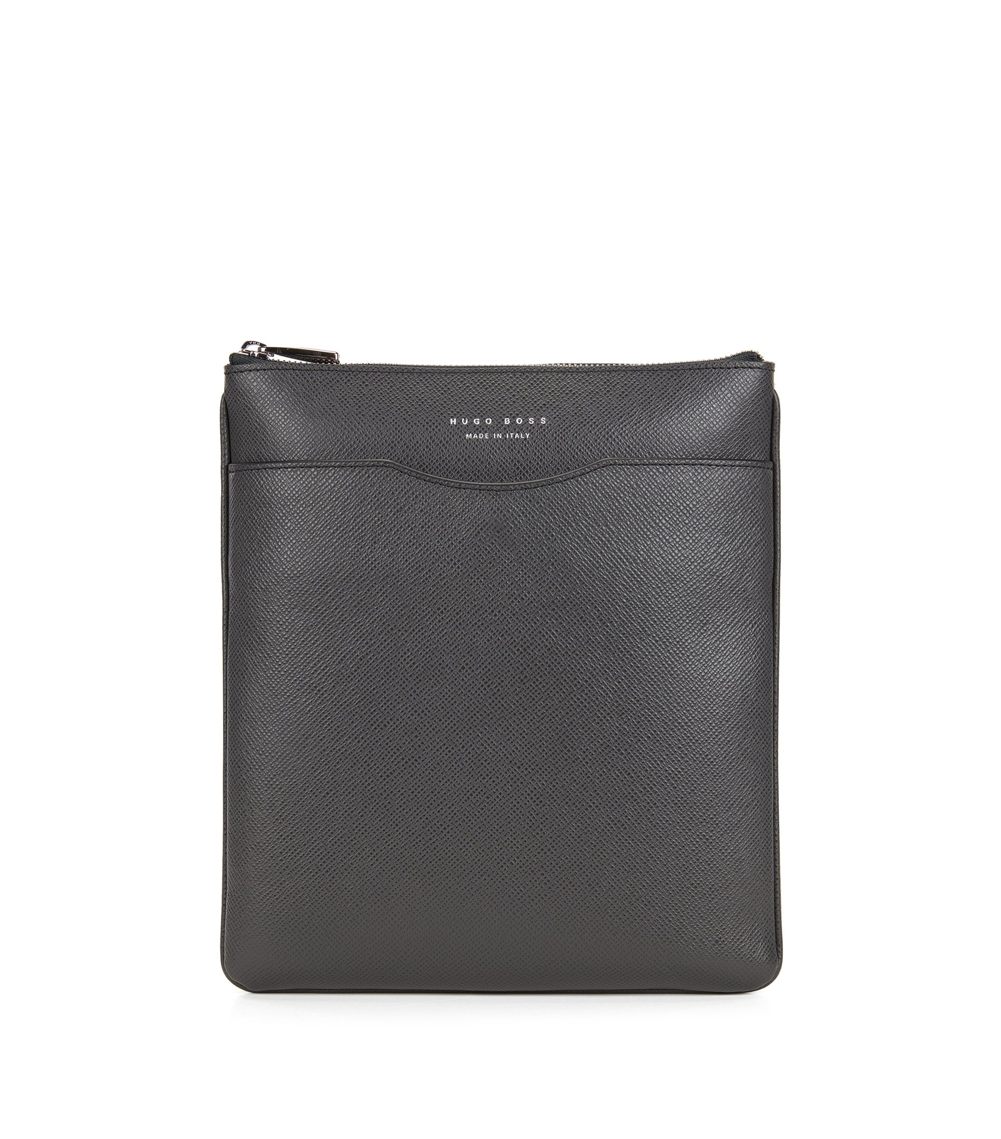 Crossbody-enveloptas van palmellatoleer uit de Signature Collection, Donkergrijs