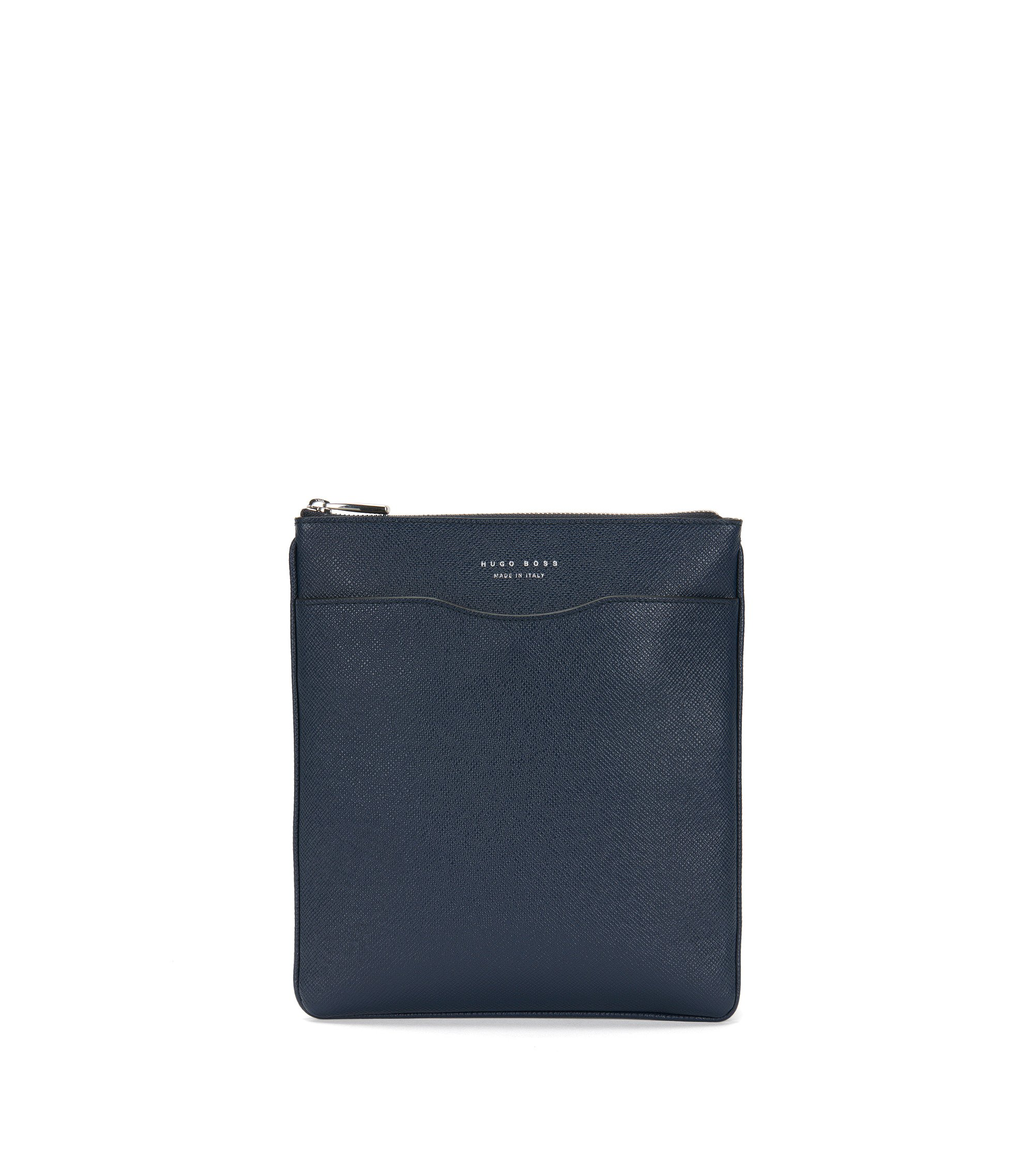Crossbody-enveloptas van palmellatoleer uit de Signature Collection, Donkerblauw