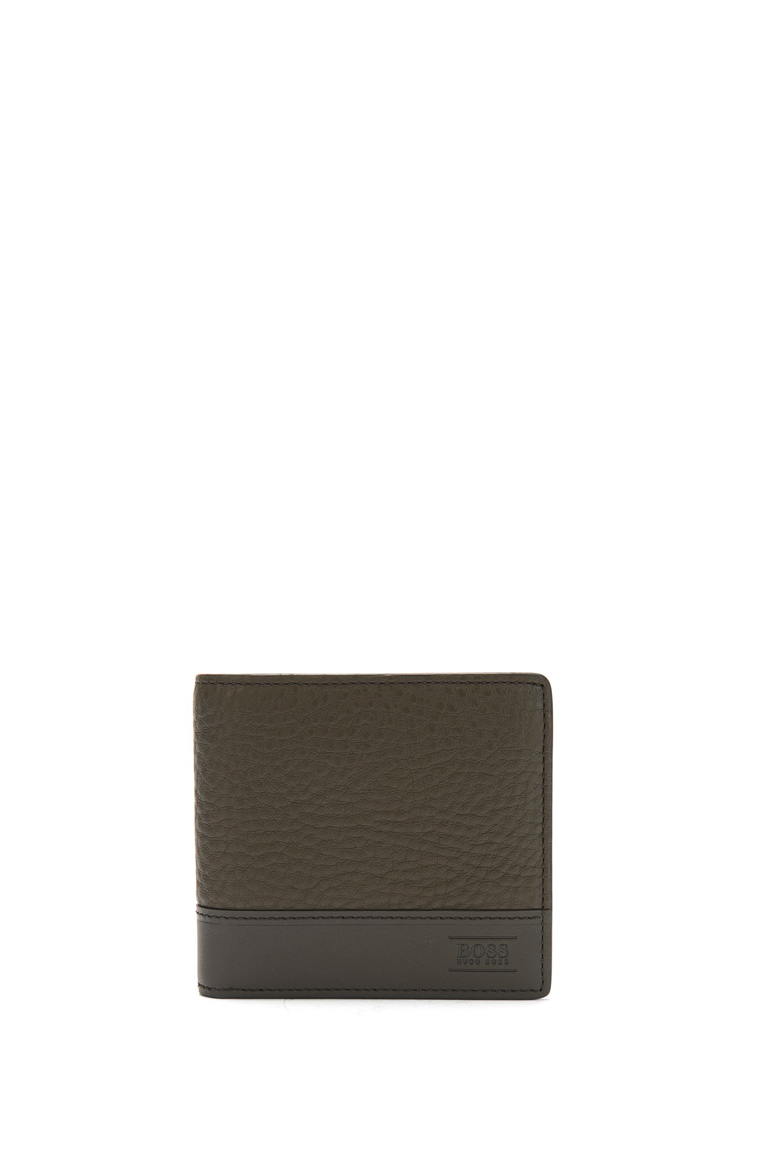 Wallet in leather with coin compartment: 'Aspen_4cc coin'