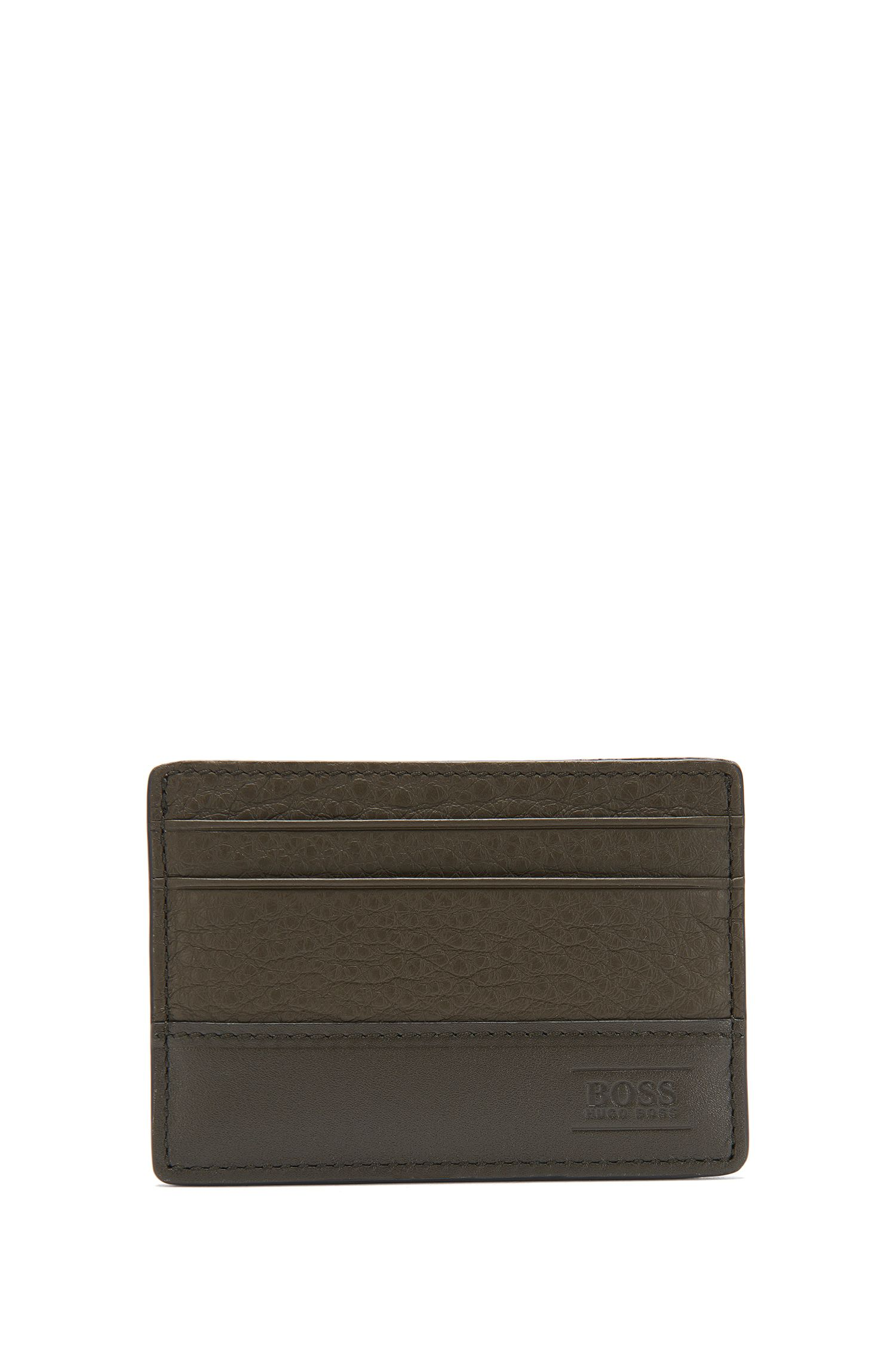 Leather card case in a mixture of textures: 'Aspen_S card'