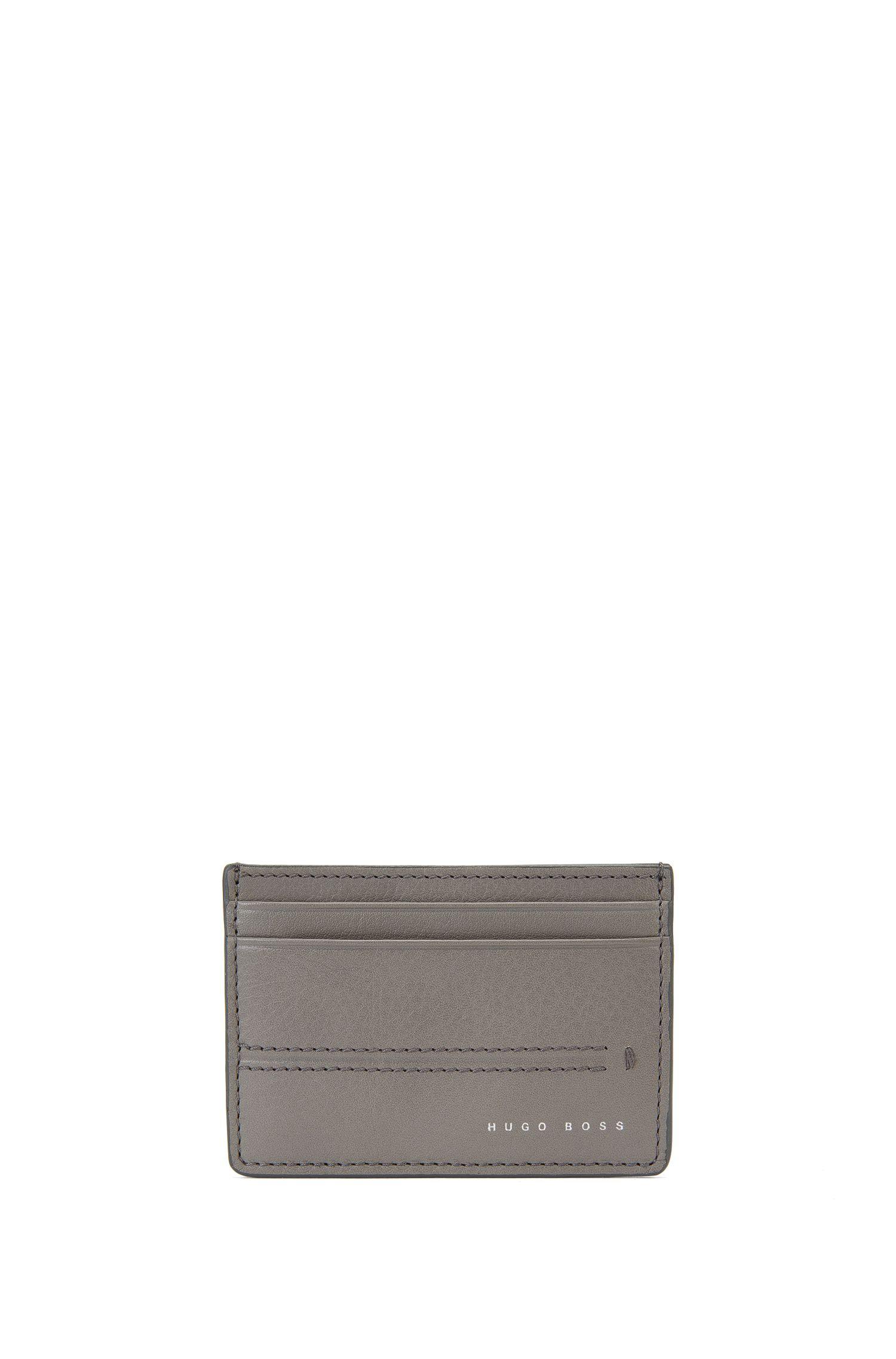 Kartenetui aus Leder mit Streifen-Prägung: 'Elite_S card'