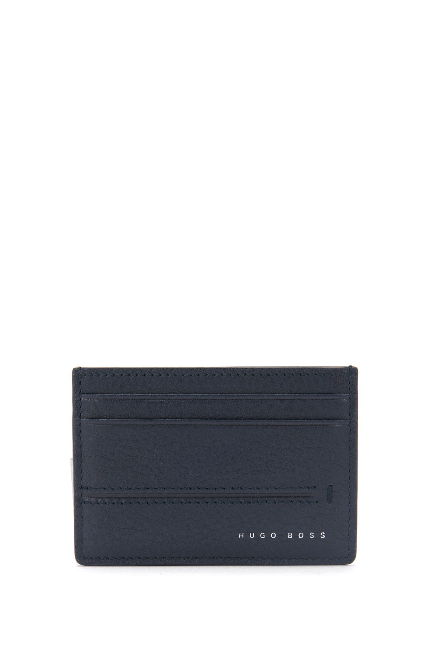 Leather card case with embossed stripes: 'Elite_S card'