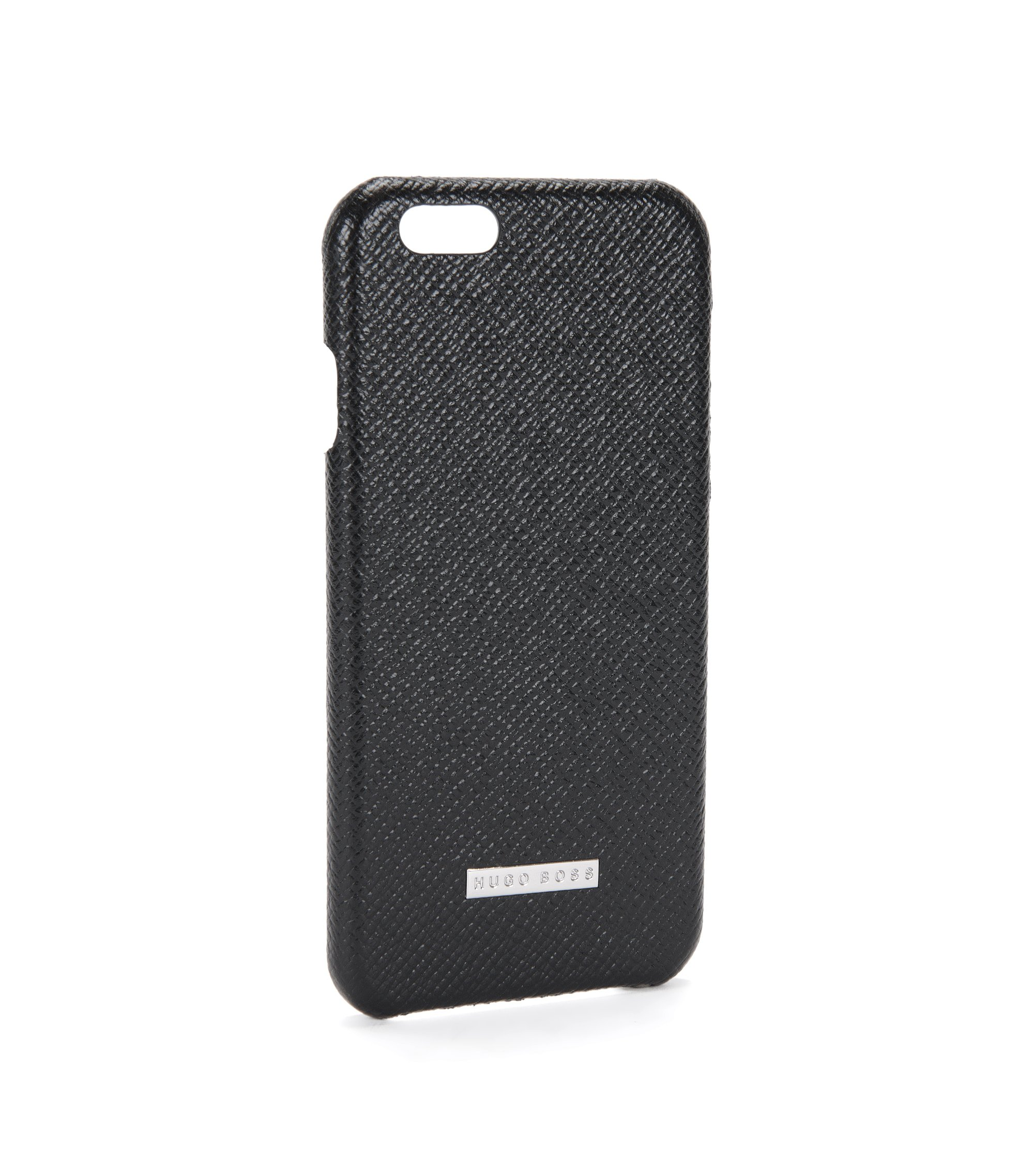 Signature Collection smartphone cover in palmellato leather, Black