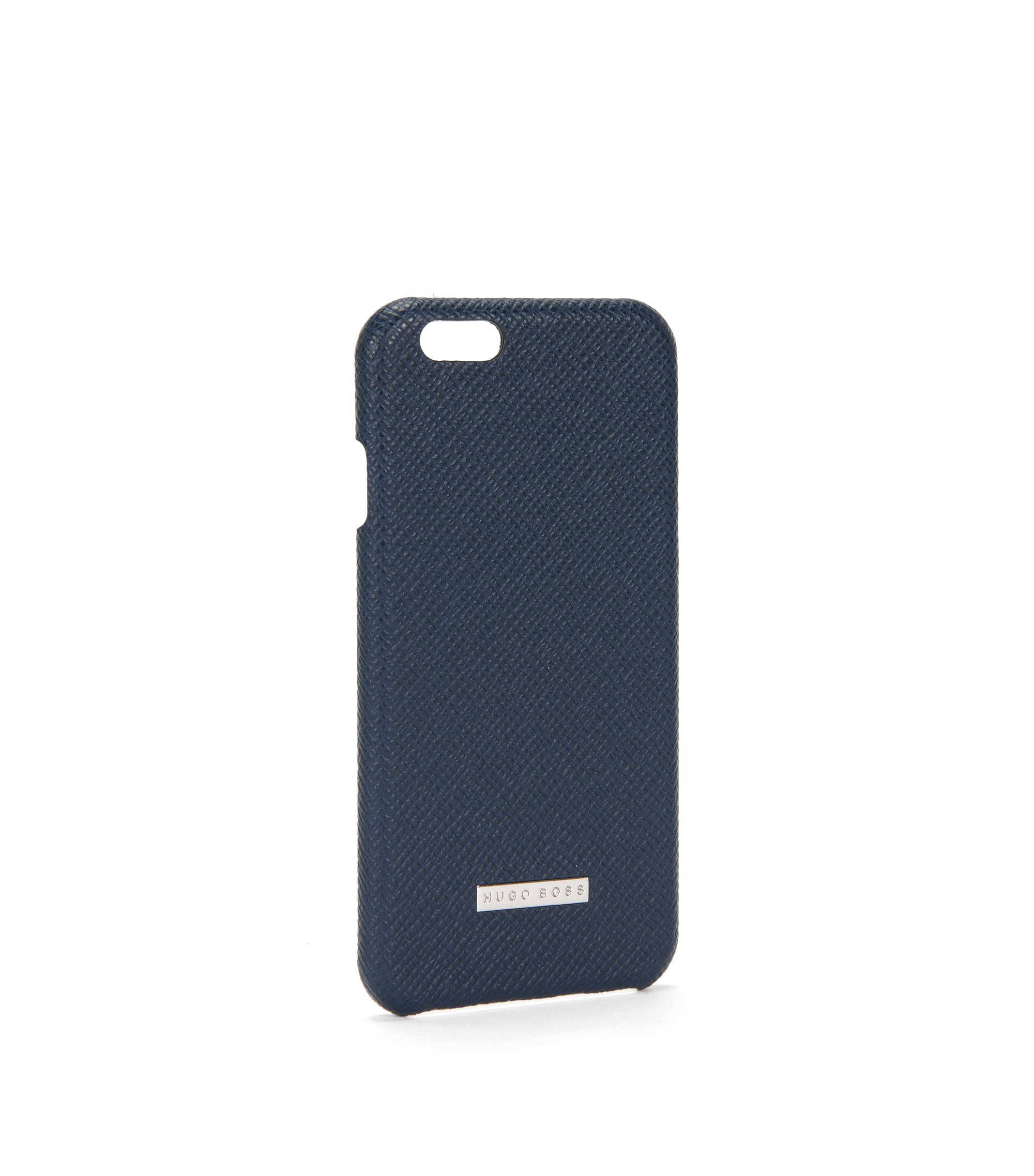 Signature Collection smartphone cover in palmellato leather, Dark Blue