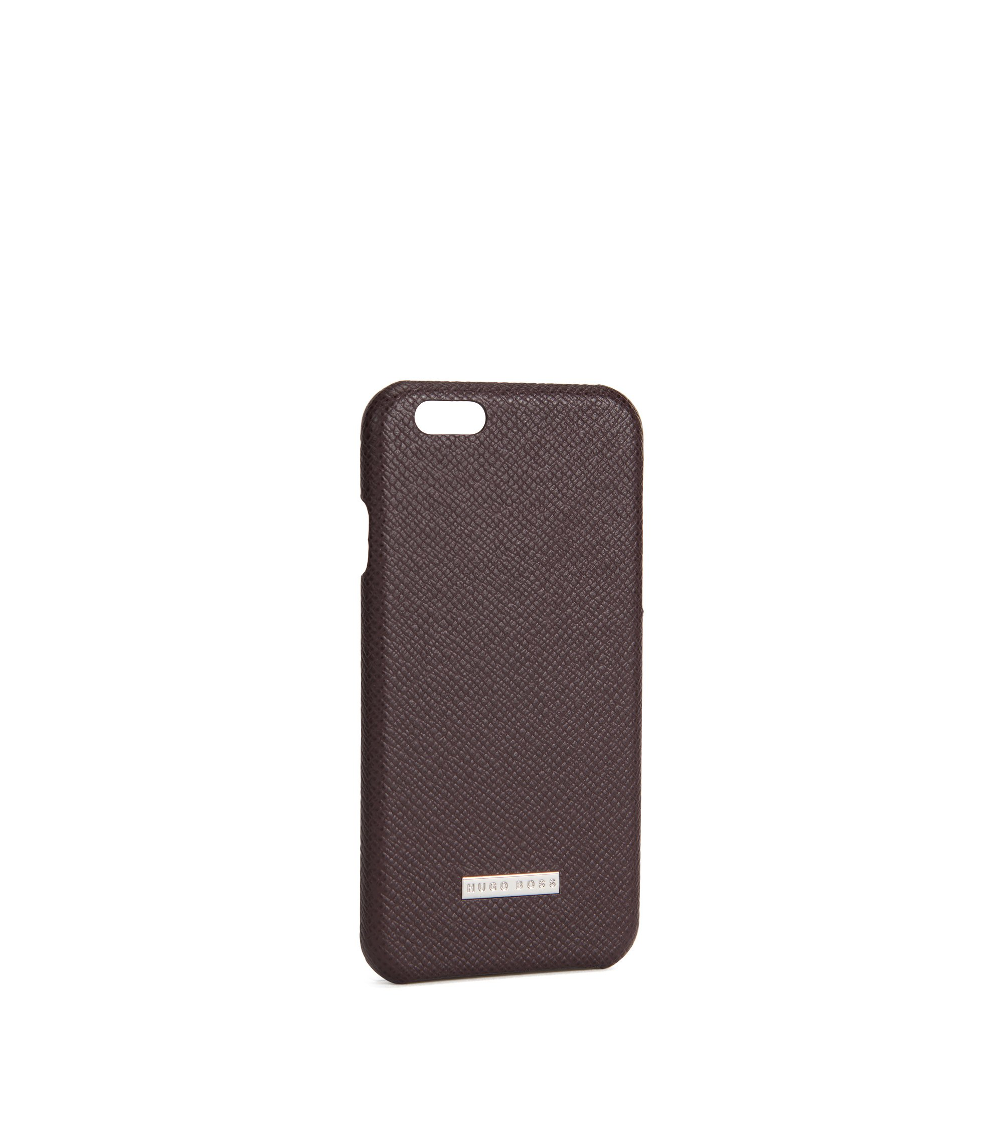 Signature Collection smartphone cover in palmellato leather, Dark Red