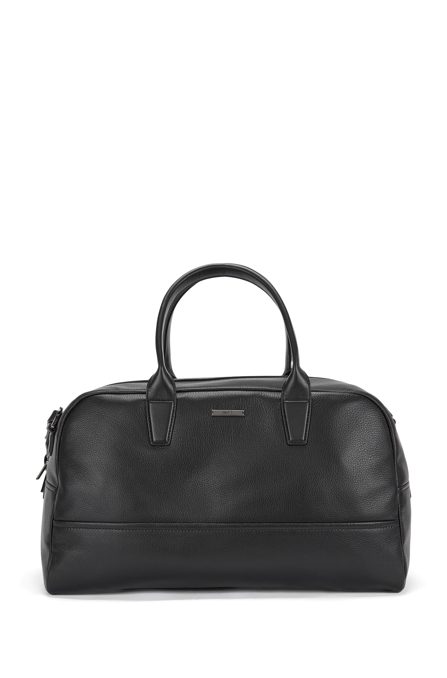 Weekender bag in grained leather: 'Element_Holdall'