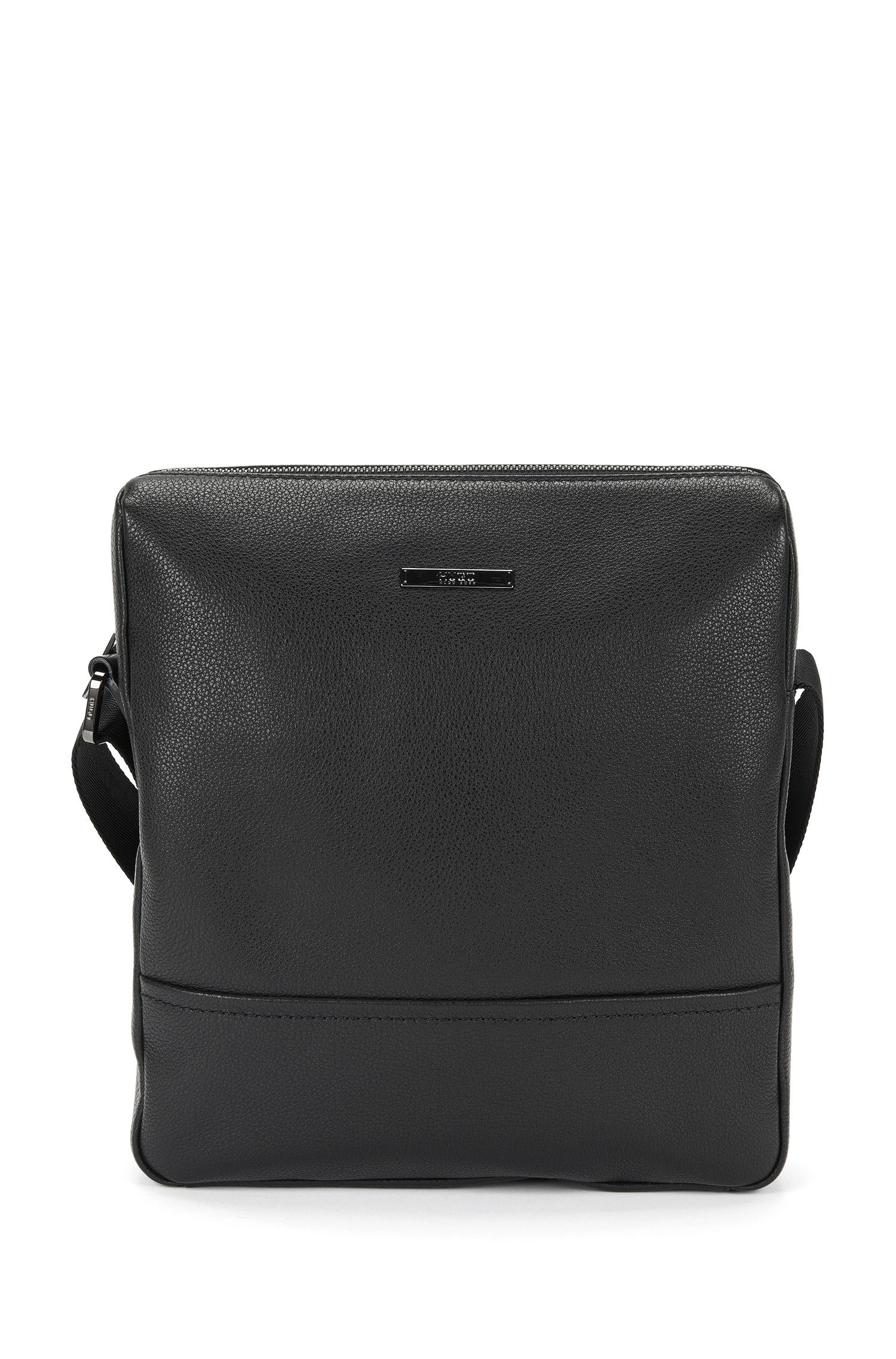 Sac coursier en cuir : « Element_NS zip », Noir