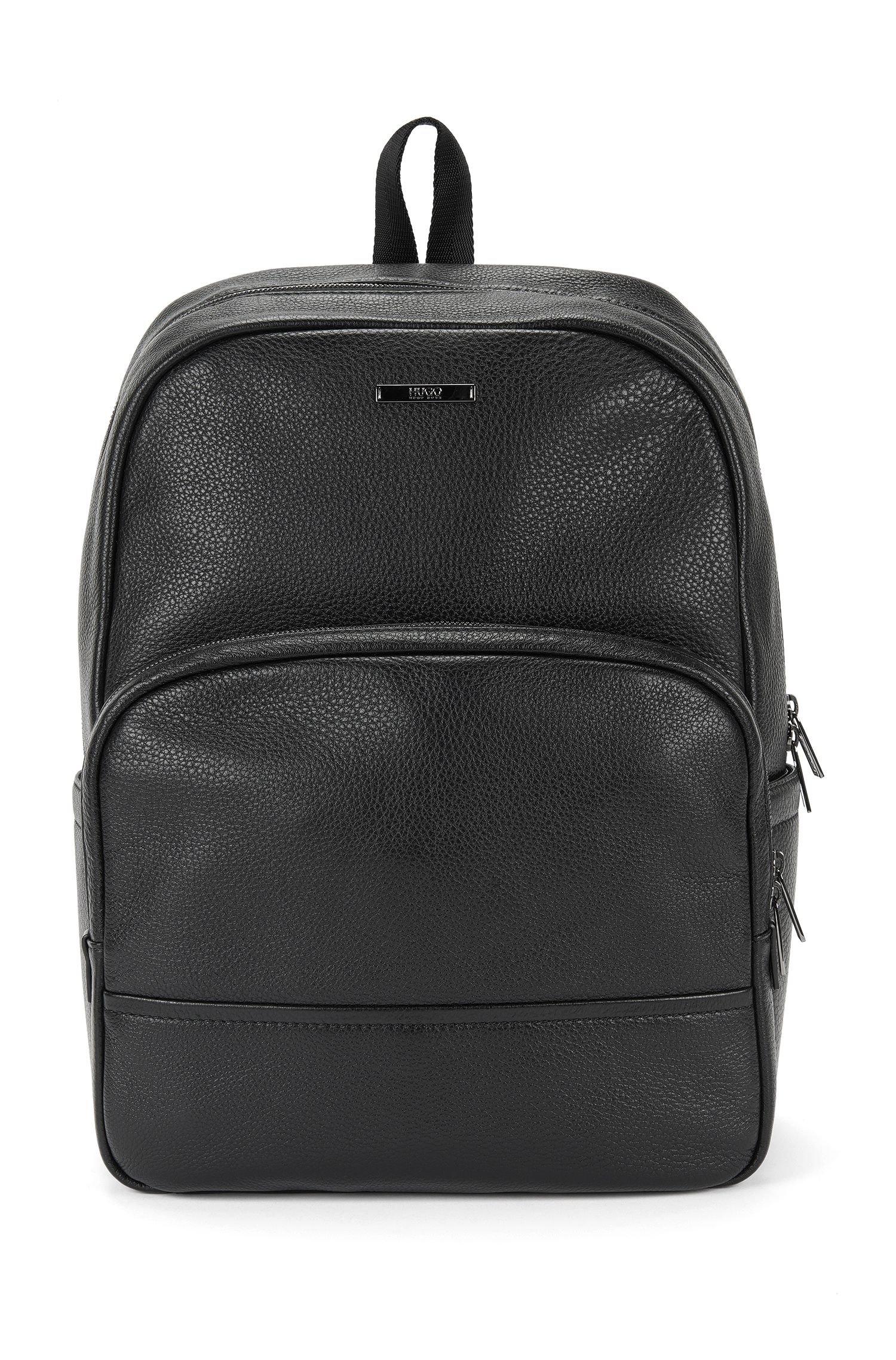 Zaino in pelle con nervature: 'Element_Backpack'