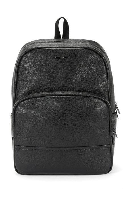 4c26807e9b5 HUGO - Sac à dos en cuir grainé  « Element Backpack »