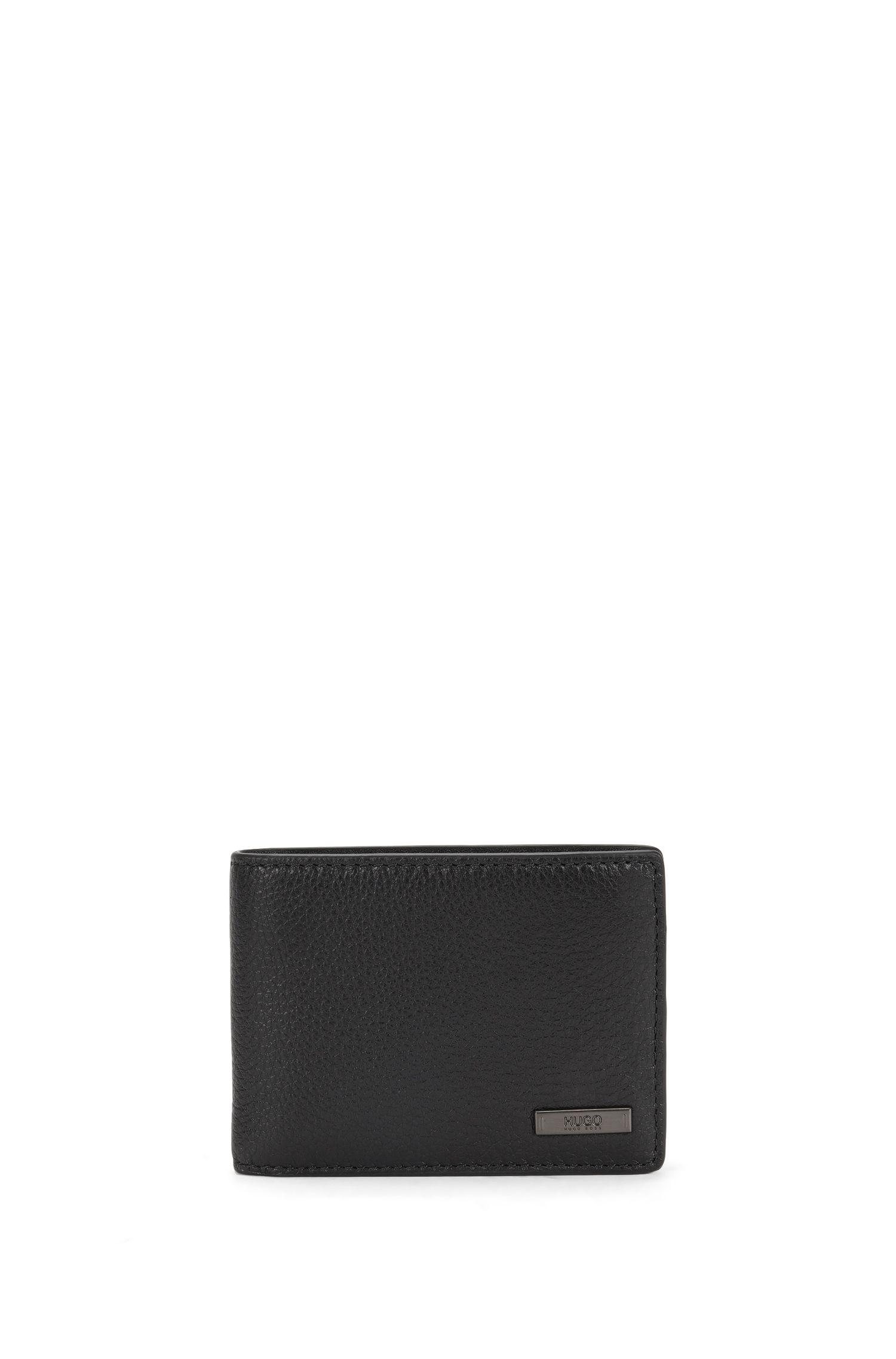 Bi-fold wallet in rich leather