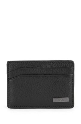Card case in rich leather, Black