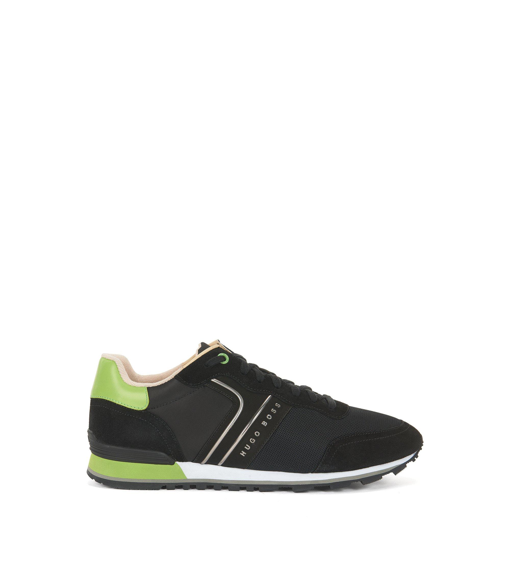 Lichte vetersneakers van hybride materiaal, Zwart