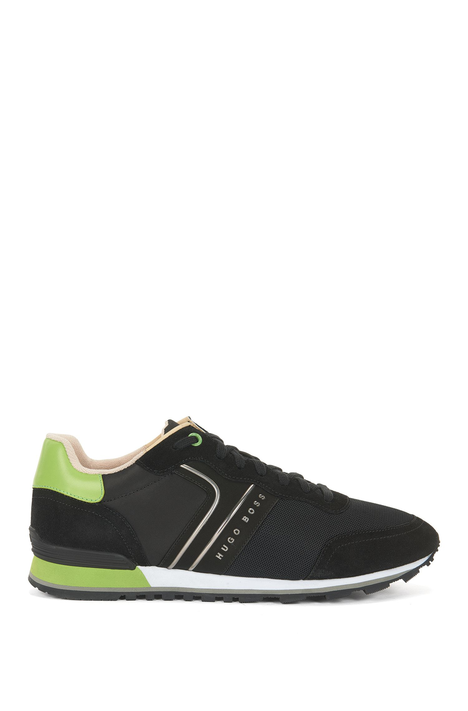 Sneakers leggere stringate in tessuto ibrido