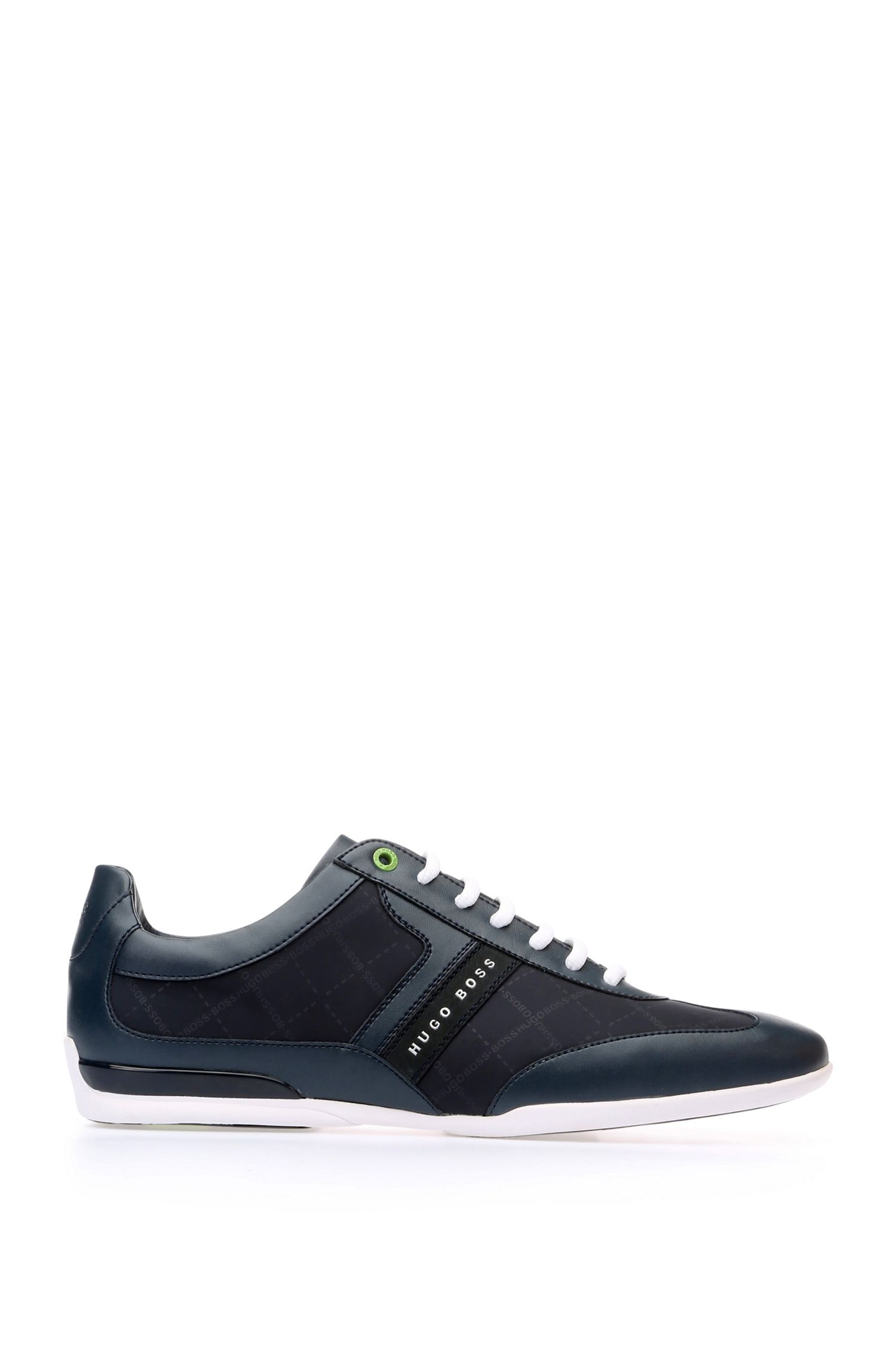 Sneakers low-top stampate con sezioni in pelle
