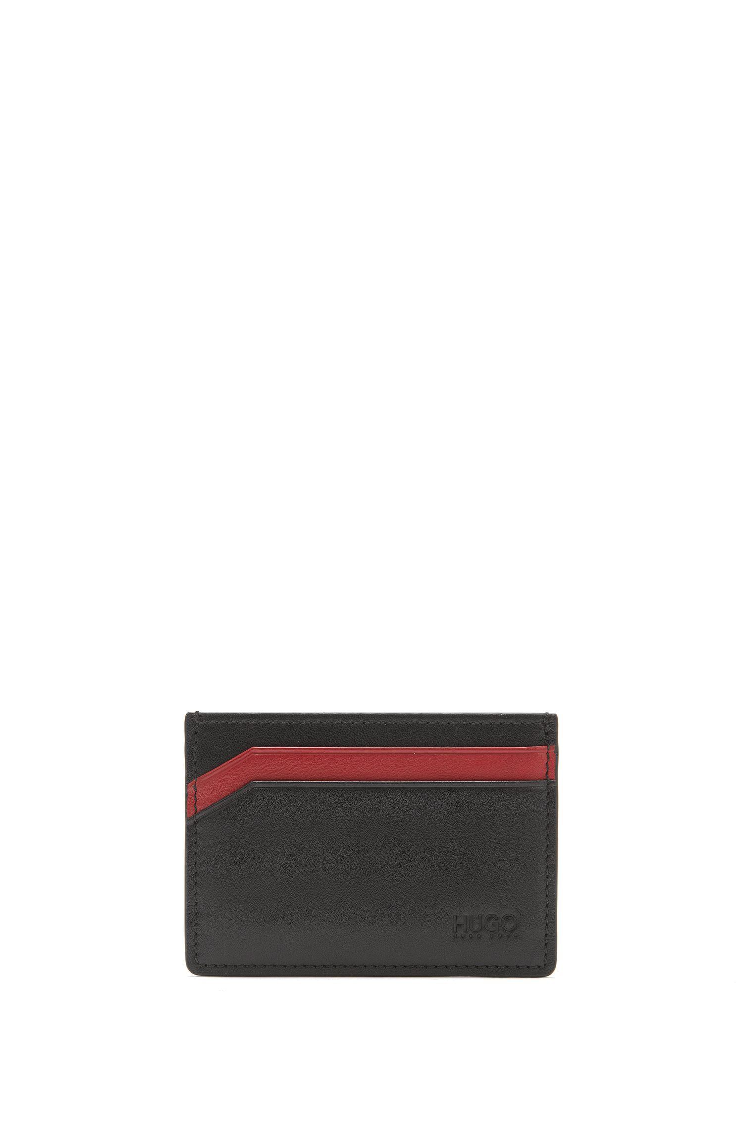 Porte-cartes en cuir lisse à quatre emplacements