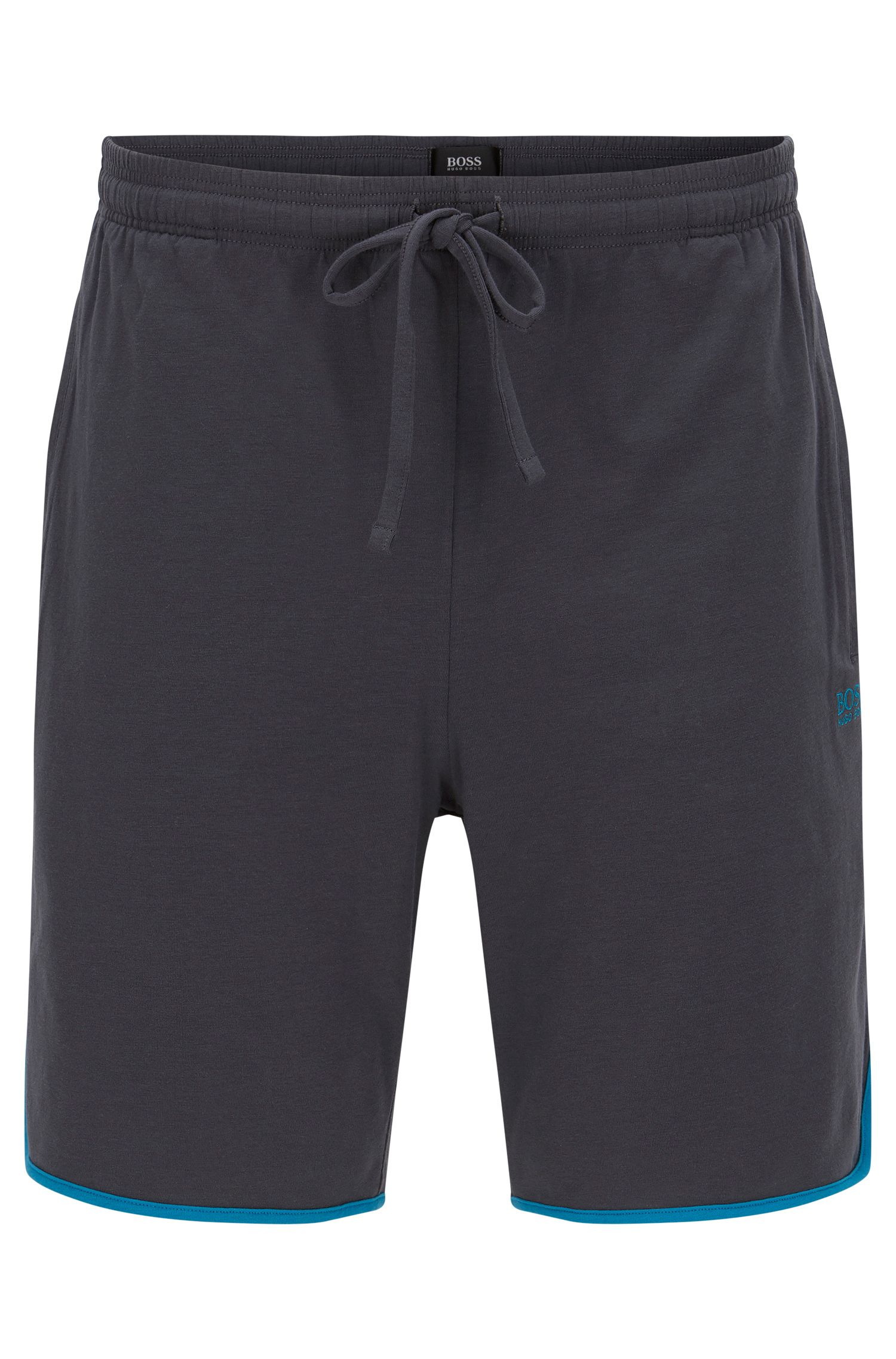Bas de pyjama en jersey à passepoils contrastants