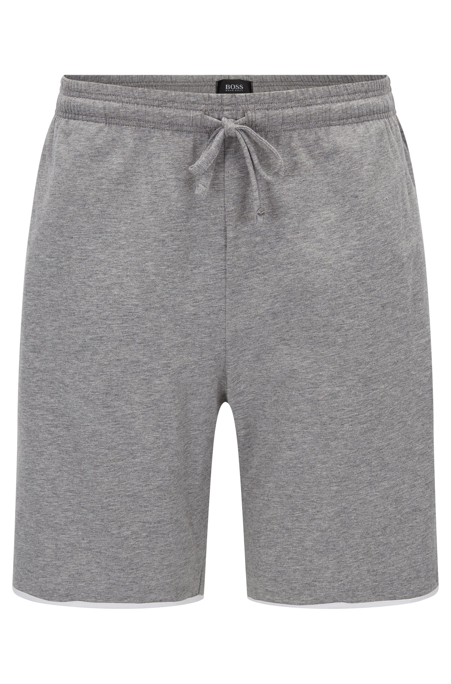 Jersey pyjama bottoms with contrast piping