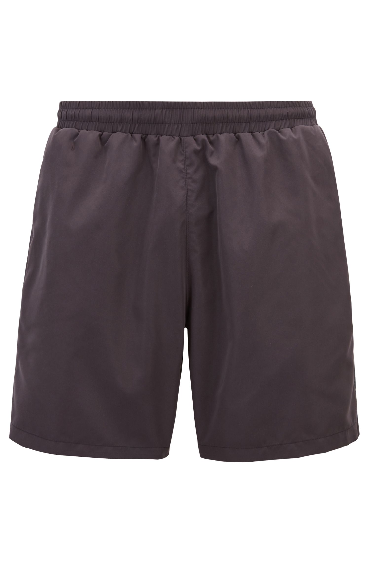 Swim shorts in quick-drying technical fabric, Anthracite