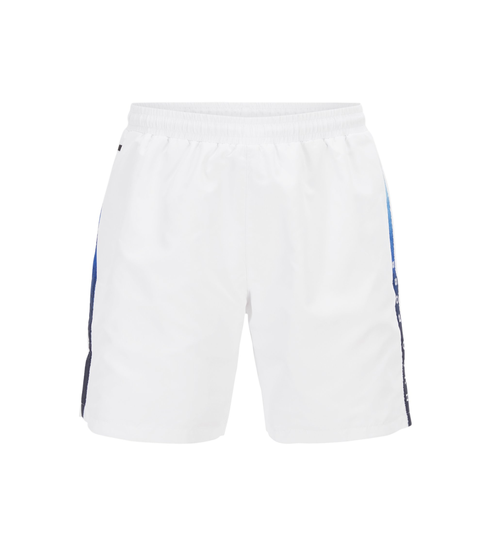 Swim shorts in quick-drying technical fabric, Natural