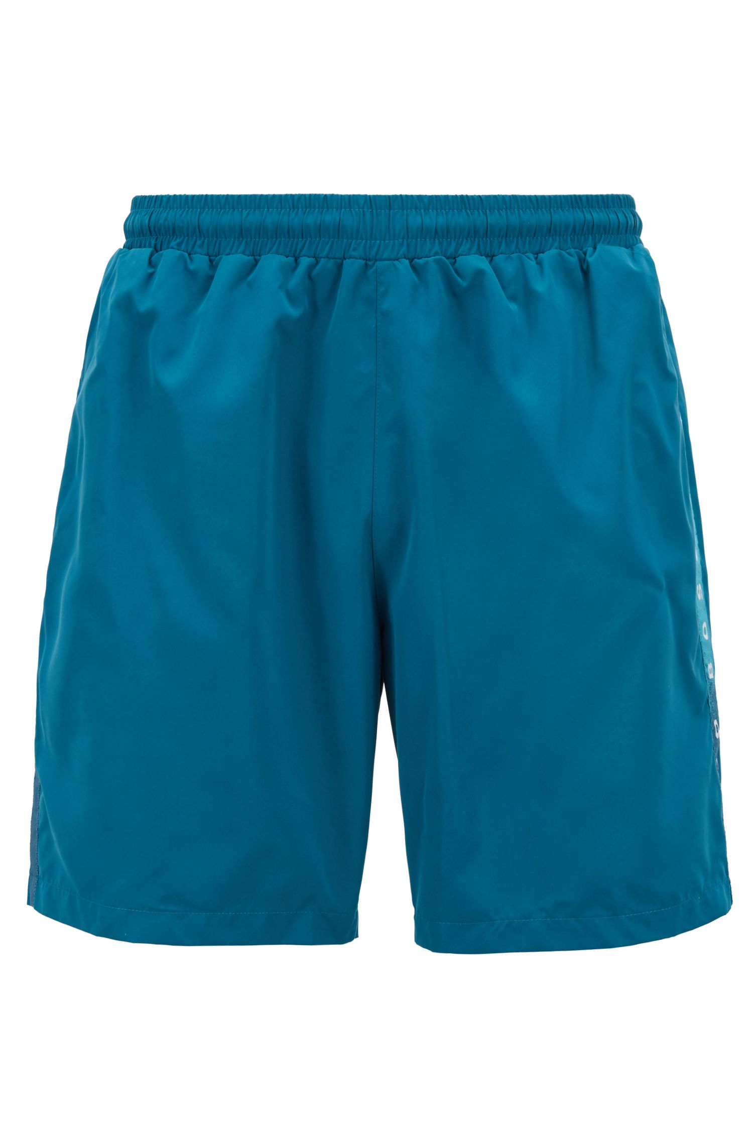 Swim shorts in quick-drying technical fabric, Dark Green
