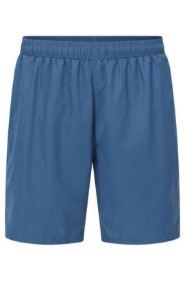 Short de bain au séchage rapide, en tissu technique, Bleu foncé
