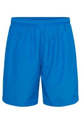 Bañador short en tejido técnico con función de secado rápido, Azul